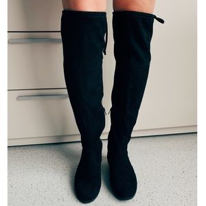 Faded Glory Shoes - Knee-High Suede Boots